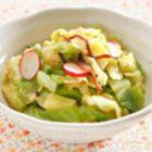 春キャベツと塩昆布の酢の物・カツオの竜田揚げ-レシピ