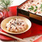 お赤飯・鯛の塩焼き~スチームコンベクションレシピ