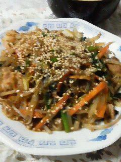 お肉のチャプチェ〜我が家自慢のお惣菜・お弁当