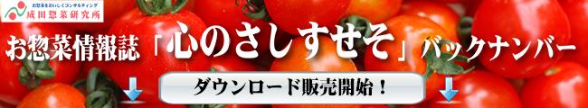 惣菜情報誌「心のさしすせそ」バックナンバーダウンロード販売開始!