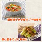 夏野菜とひき肉のゴマ味噌丼・蒸し茄子のピリ辛和え~スチームコンベクションレシピ