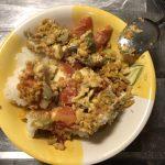 トマトとそら豆とチーズの卵炒め〜我が家自慢のお惣菜・お弁当